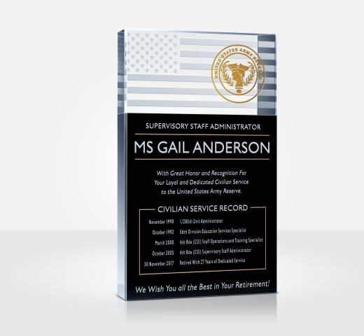 Army Retirement Plaque and Poem Samples - DIY Awards