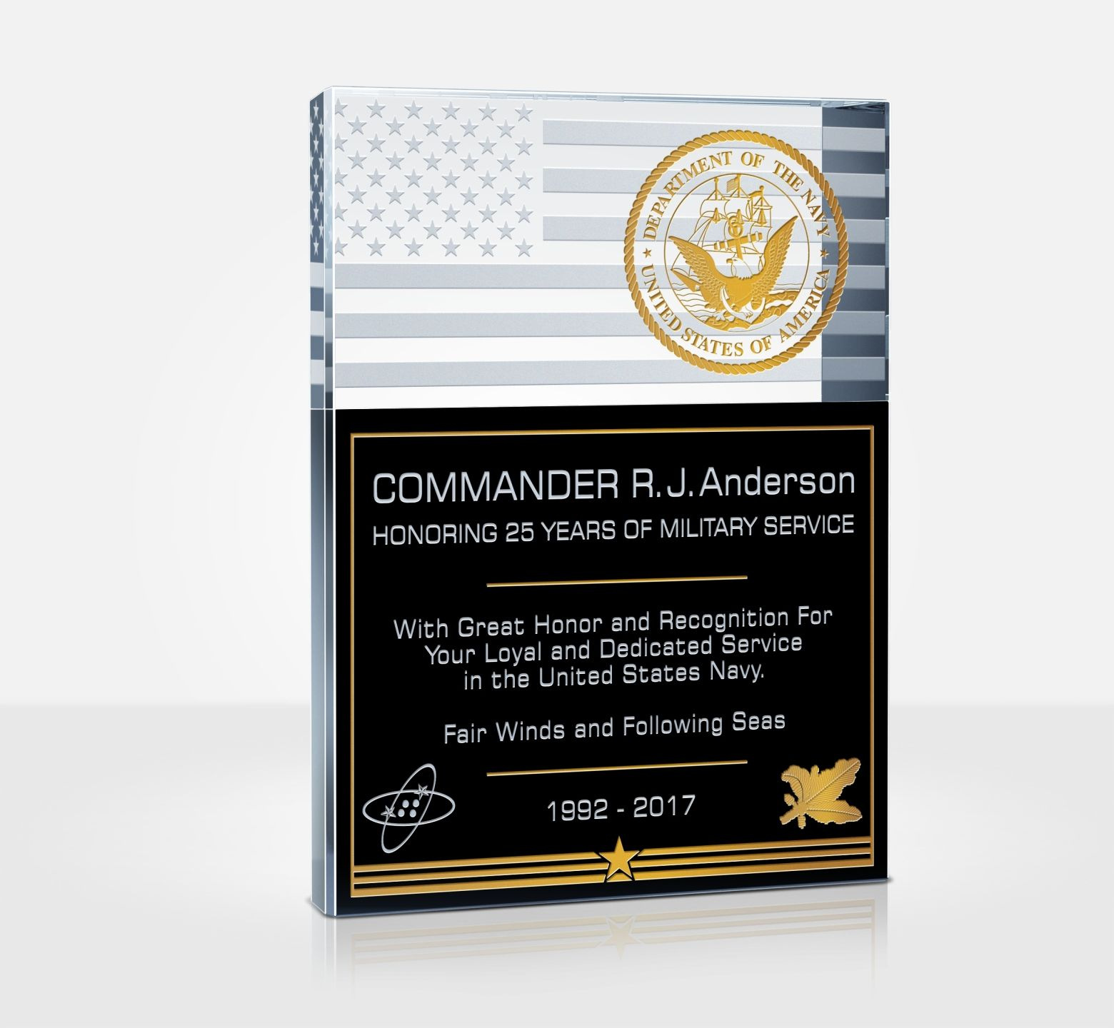 unique navy service plaques and thank you quotes