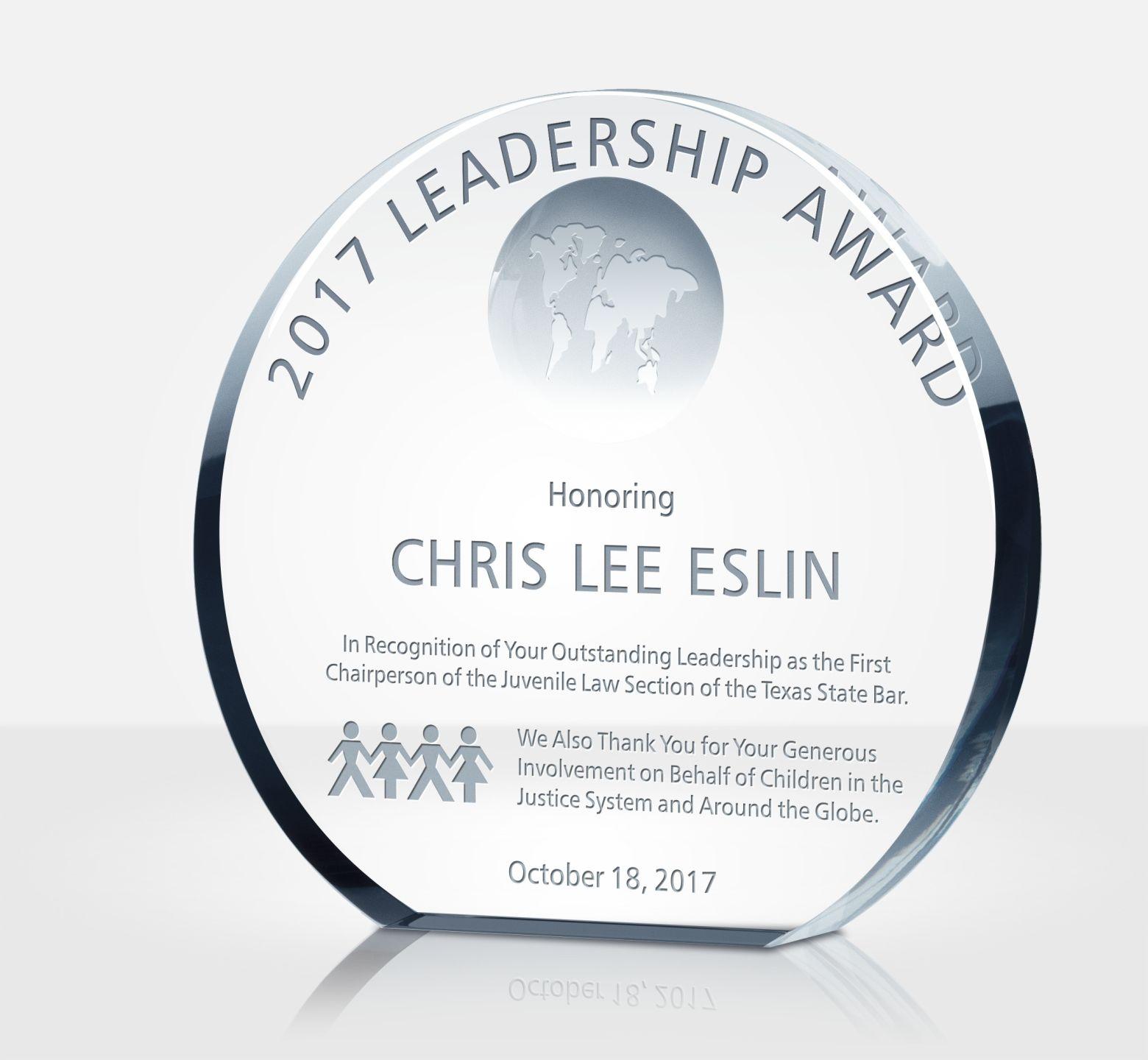 Leadership Excellence Award Plaque Diy Awards