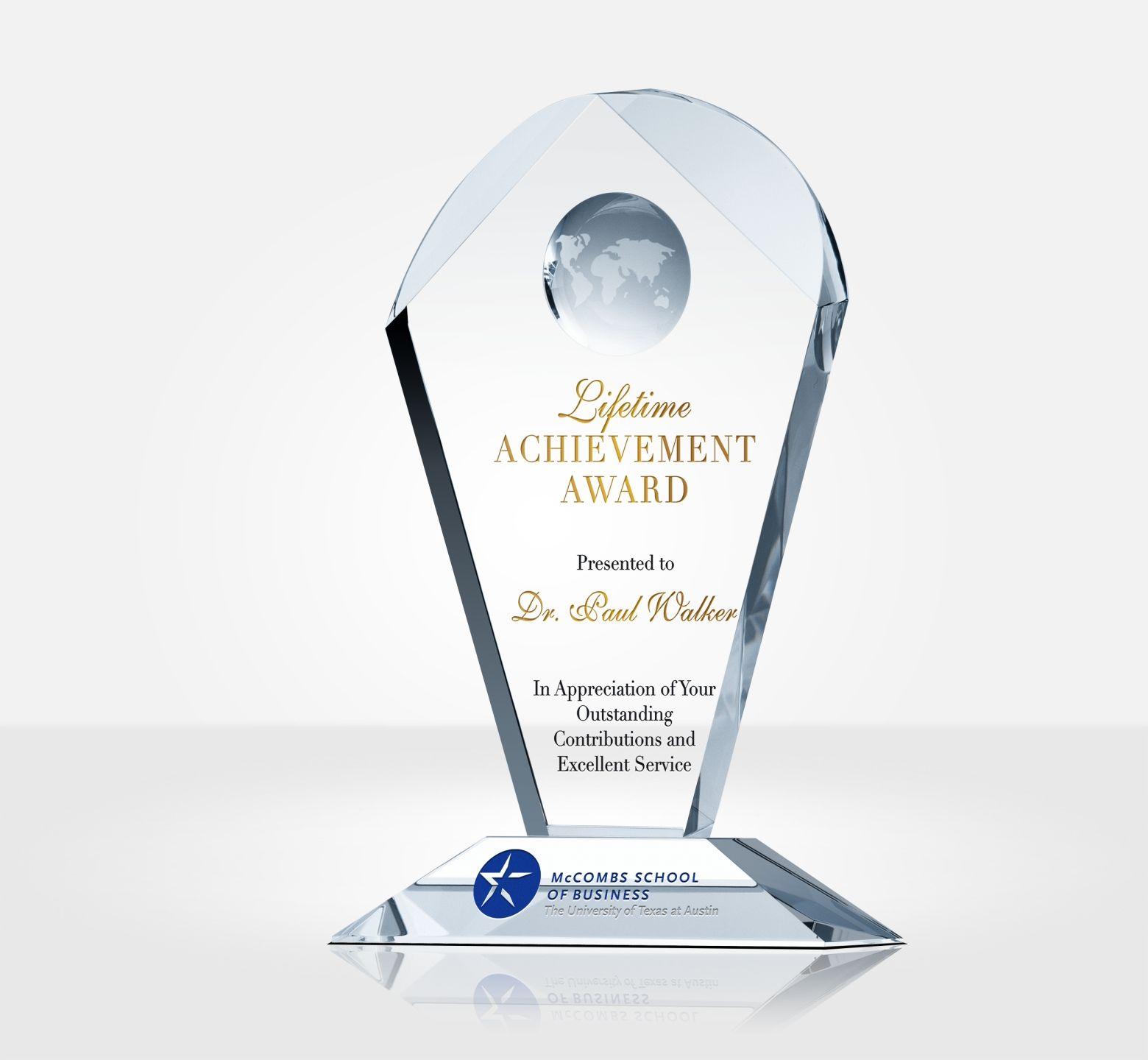 Lifetime Achievement Award Trophy Diy Awards