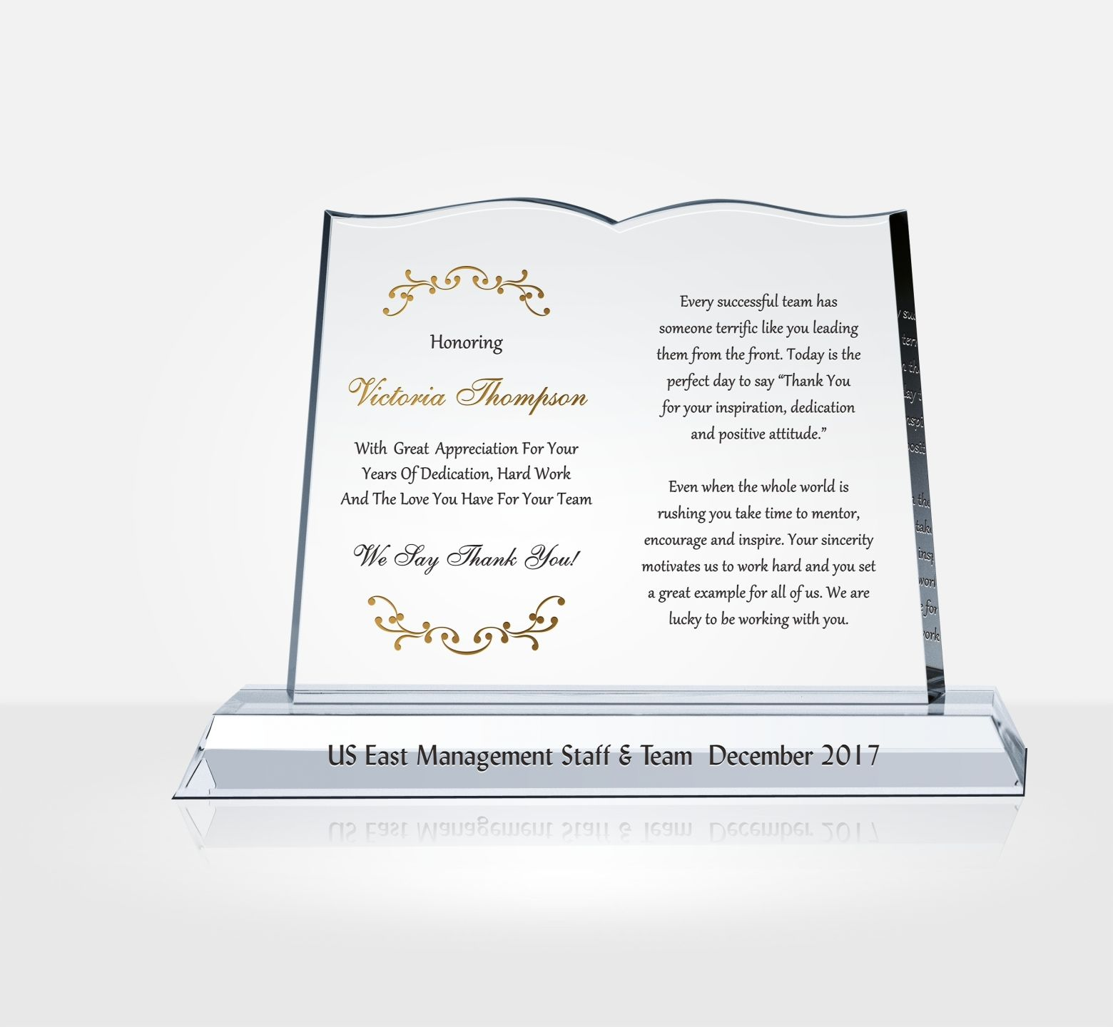 Thank You Gift Plaque For Boss Diy Awards