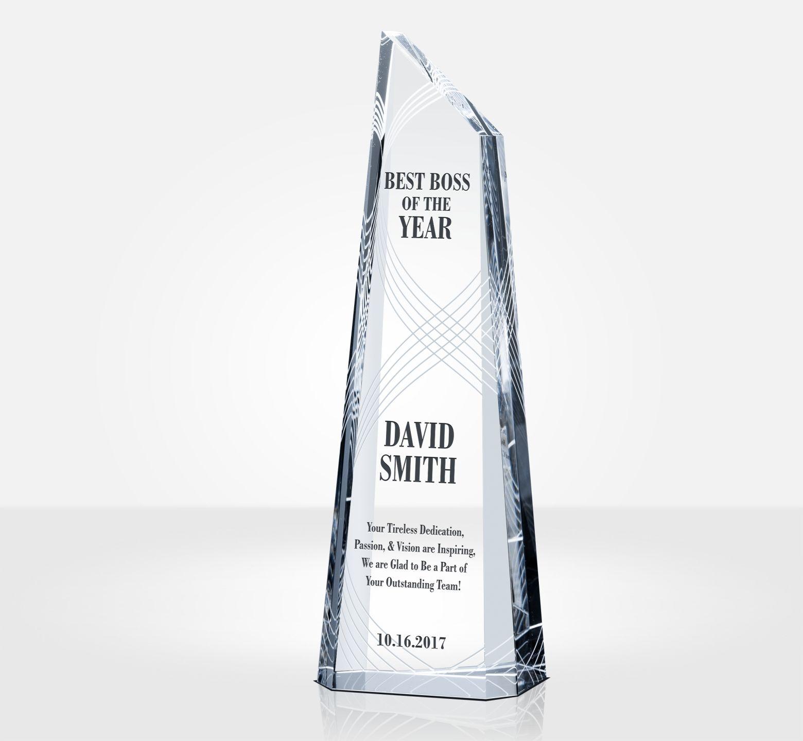 Best Boss Award Plaque Diy Awards