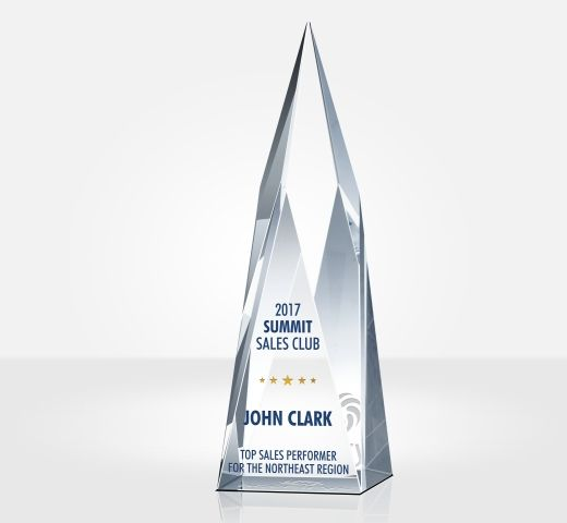 Crystal Summit Sales Club Award Trophy