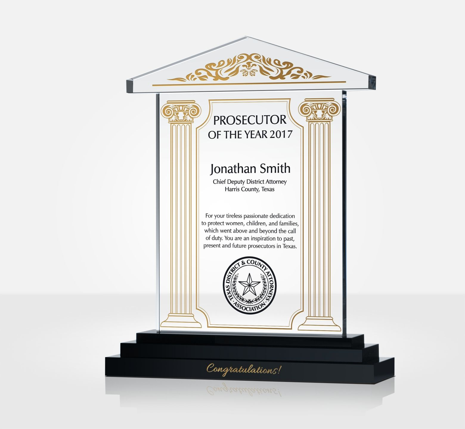 Federal Law Enforcement Award Plaque Diy Awards