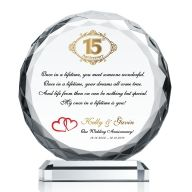 Crystal Anniversary Plaque