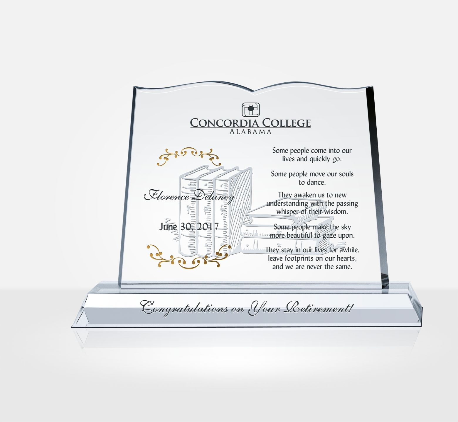 College Award Plaques | www.topsimages.com