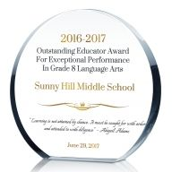 Circle Educator Award Plaque