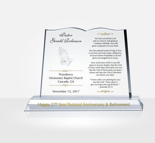 Clergy Retirement Gift Plaque Diy Awards · Pastor Retirement Gifts .