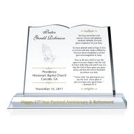 Clergy Retirement Gift Plaque
