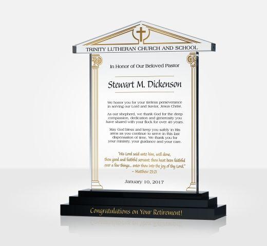 Pastor Retirement Tribute Diy Awards