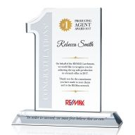 Real Estate #1 Top Agent Award Plaque