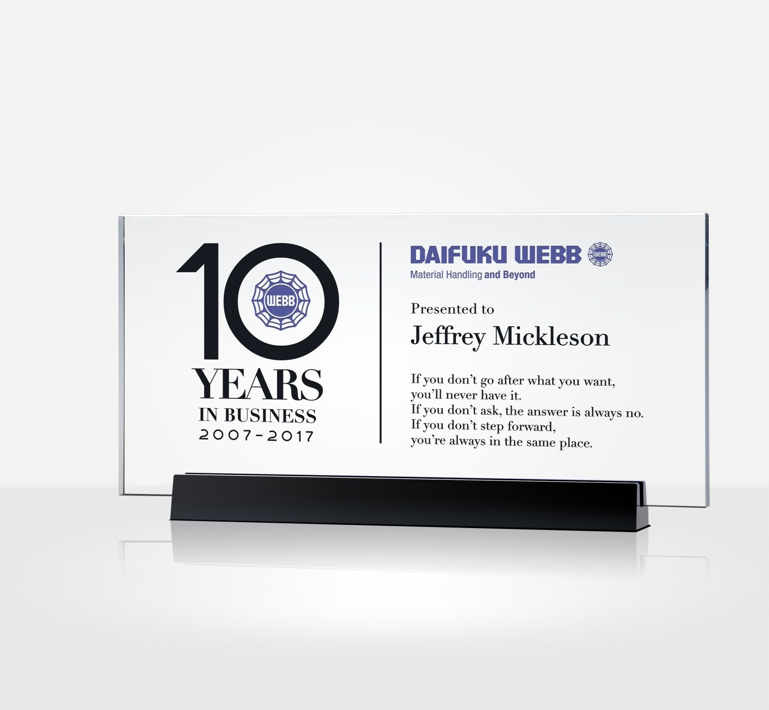 Years Of Service Certificate Plaque Diy Awards