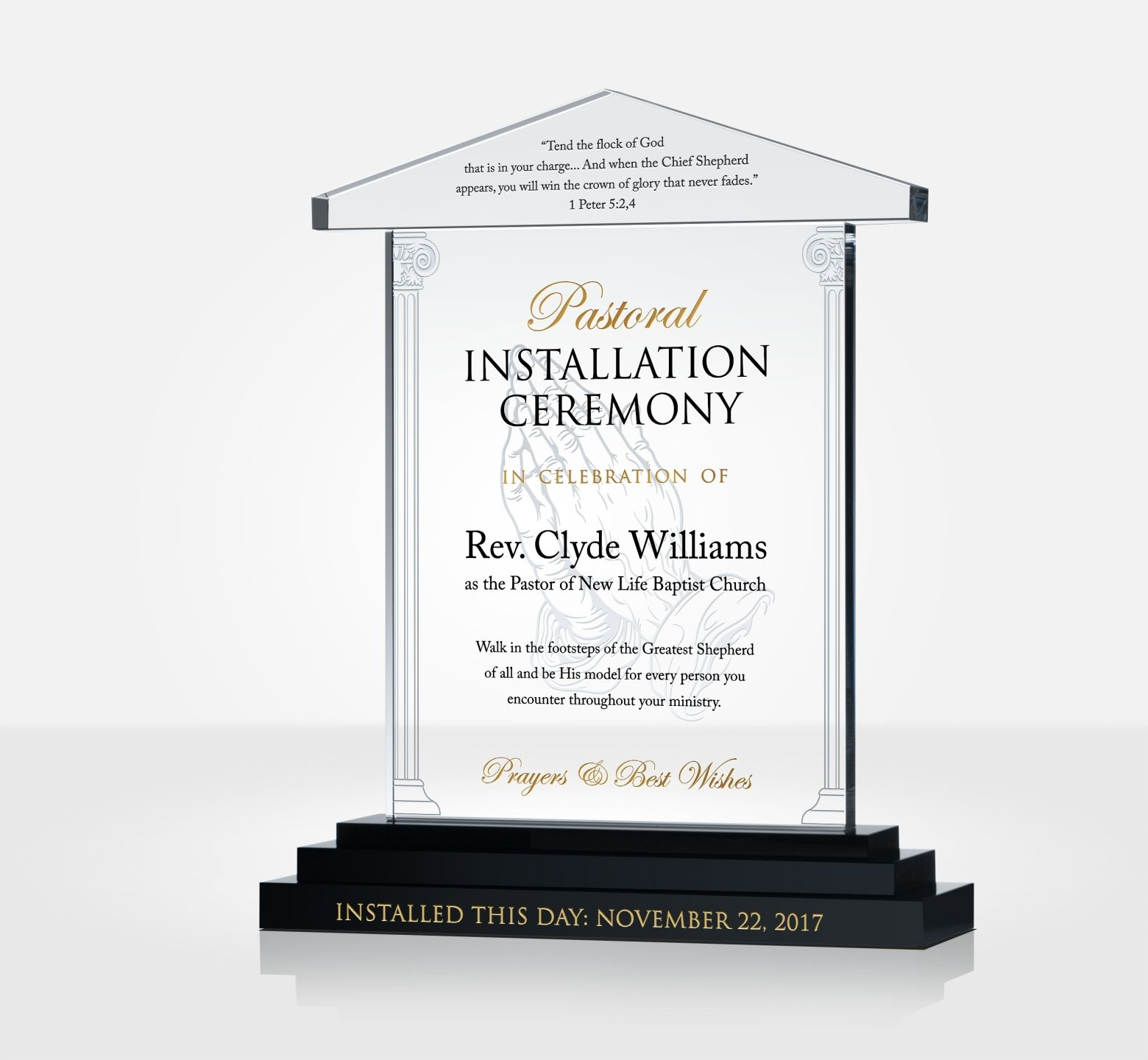 pastor installation gift plaque diy awards. Black Bedroom Furniture Sets. Home Design Ideas