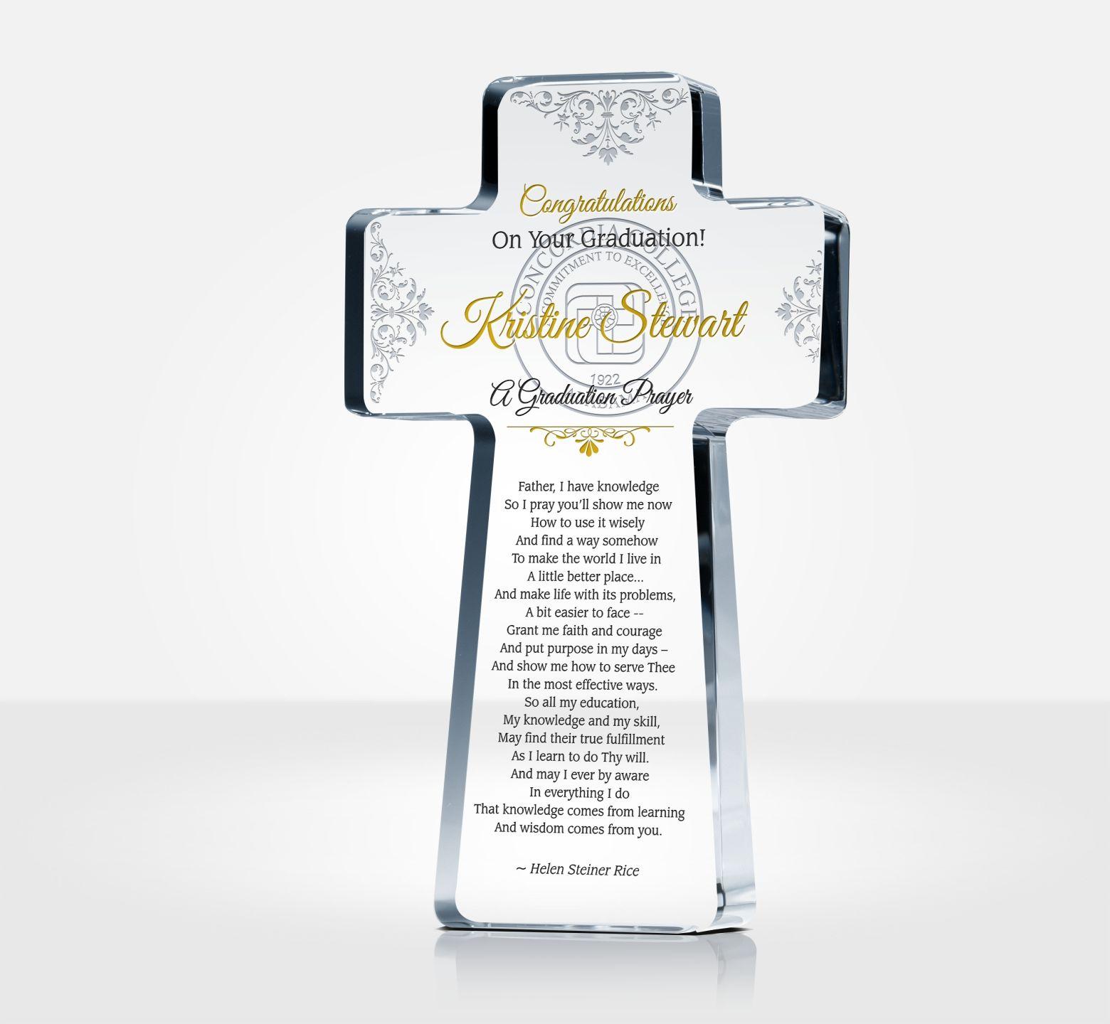 religious graduation gift plaque diy awards