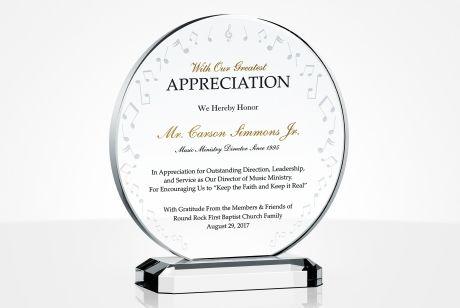 Music Minister Plaques Amp Appreciation Ideas Diy Awards