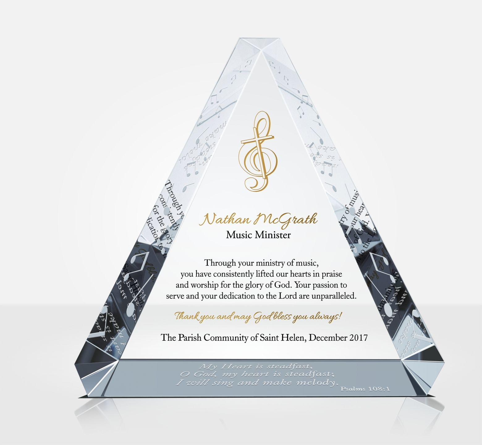 Worship Leader Appreciation Plaque Diy Awards