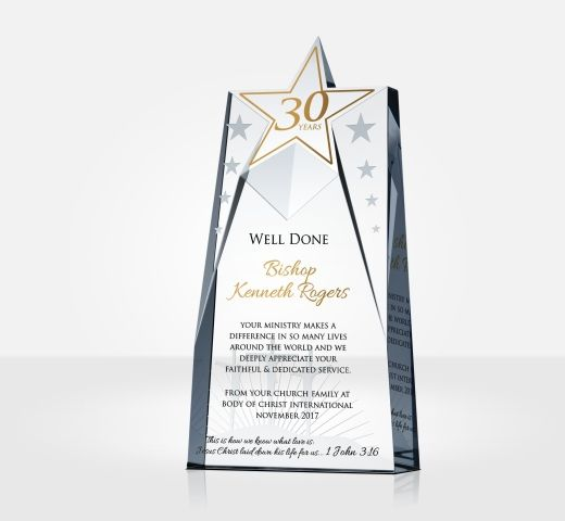30 Years Priest Anniversary Gift Plaque
