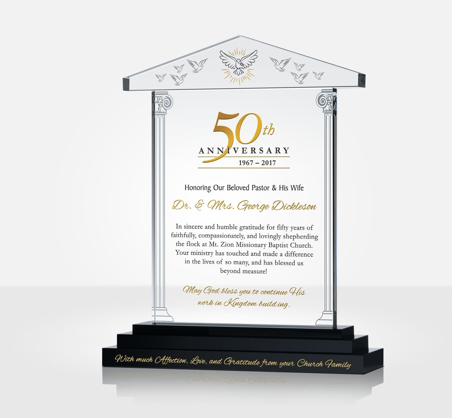 Pastoral 50th Anniversary Golden Jubilee Gift Plaque Diy