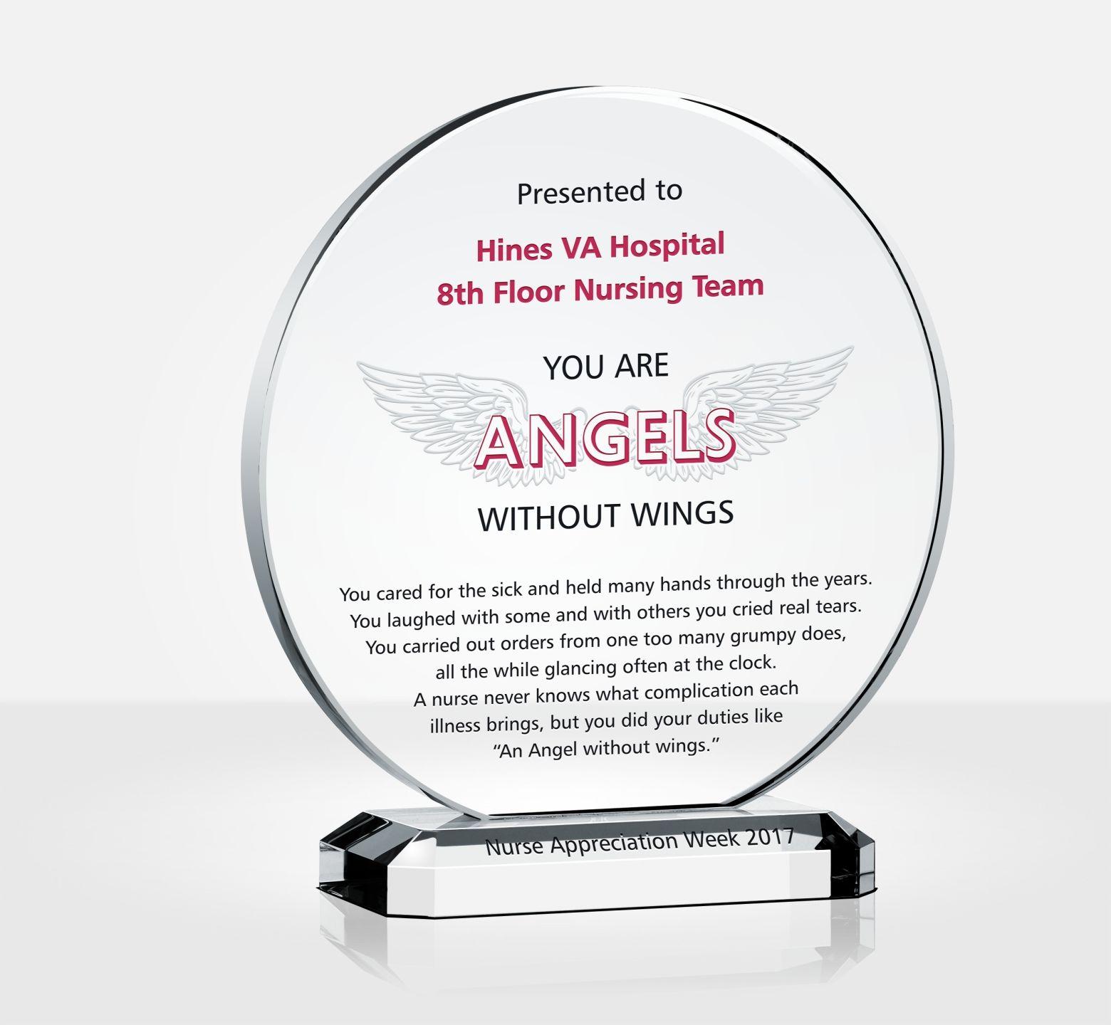 plaque of appreciation template - nurse appreciation gift plaque diy awards