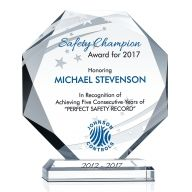 Sample Safety Recognition Award Wording Idea
