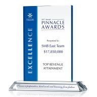 Crystal Top Revenue Generator Award Plaque