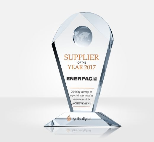 Crystal Supplier Of The Year Award Plaque Diy Awards