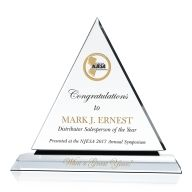 Crystal Top Salesman Award Plaque
