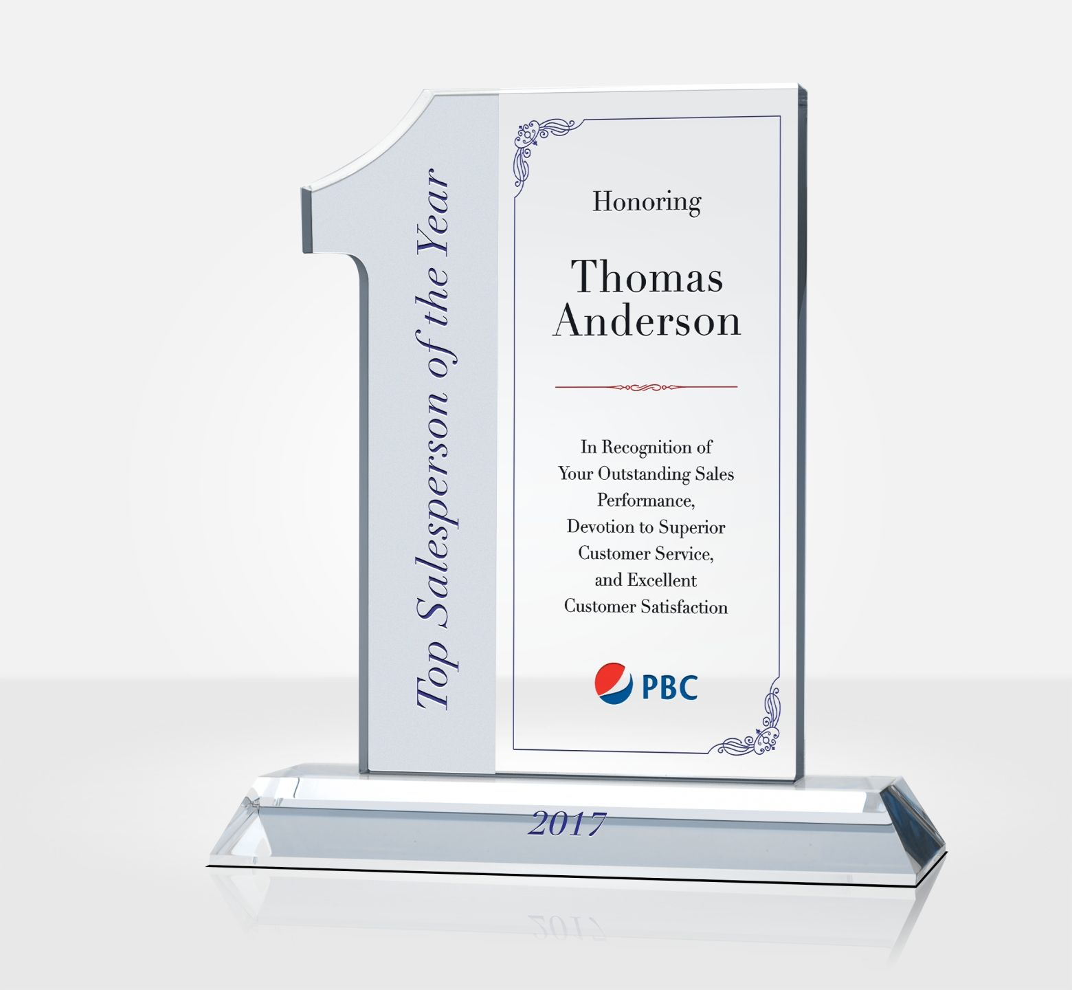 Top Sales Person Of The Year Award Plaque Diy Awards
