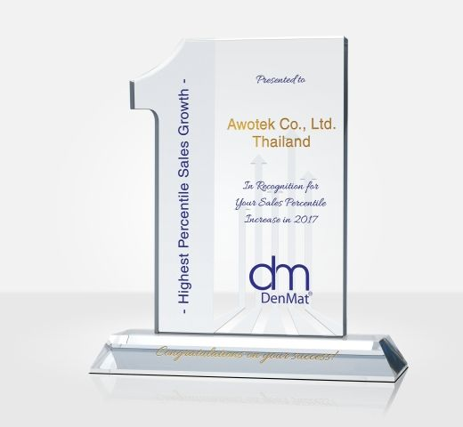 Highest Dollar Sales Growth Award Trophy