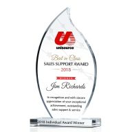 Crystal Sales Support of the Year Award Trophy