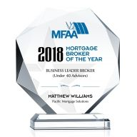 Mortgage Broker of the Year Award Plaque