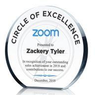 Circle of Excellence Sales Award Plaque