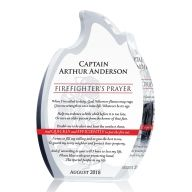 Flame Firefighter Prayer Crystal Plaque