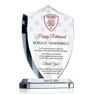 Shield Firefighter Retirement Gift Plaque