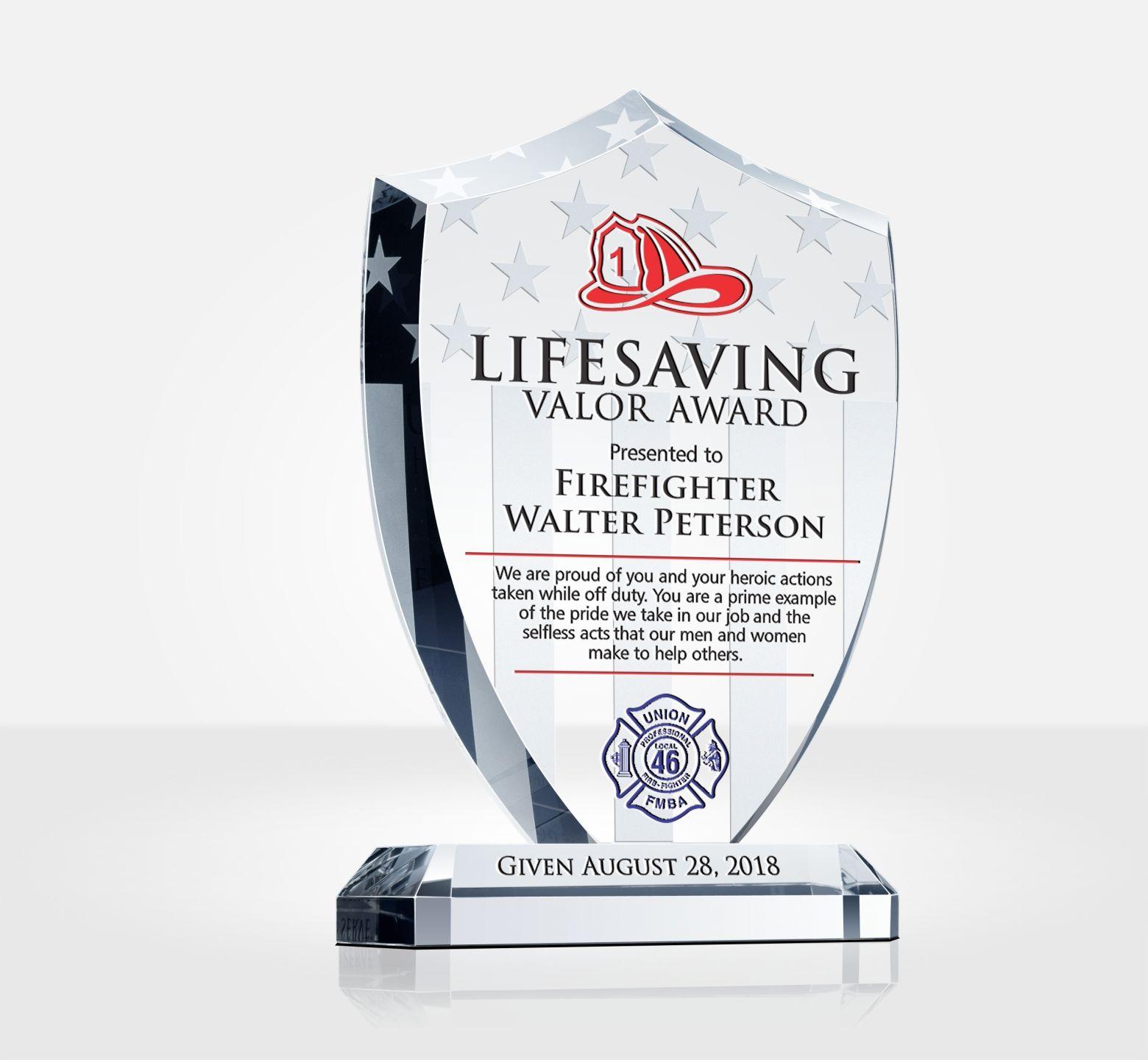 firefighter life saving valor award