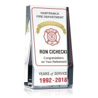 Firefighter Years of Service Award Plaque