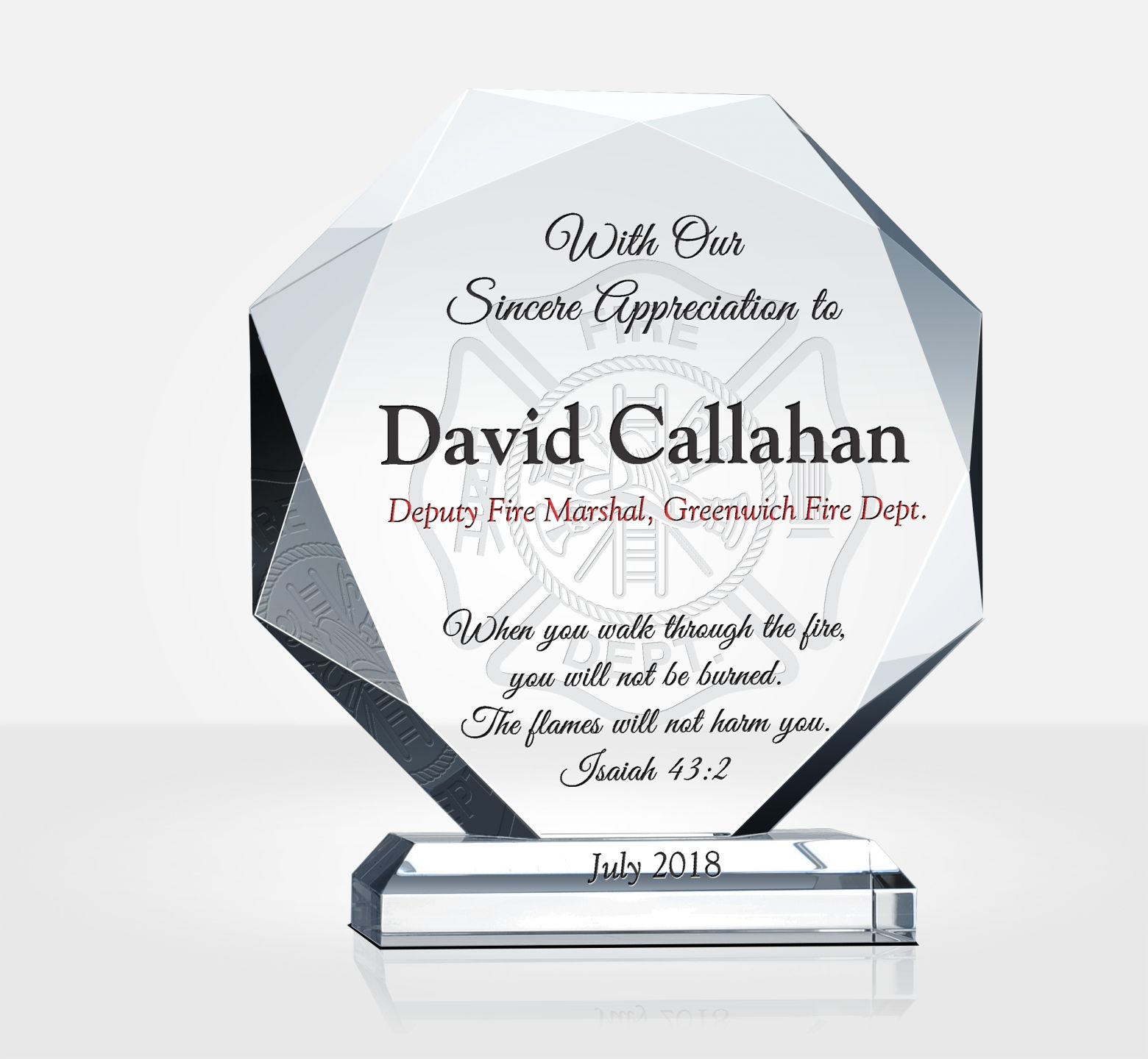 Religious Firefighter Appreciation Gift Plaque Diy Awards