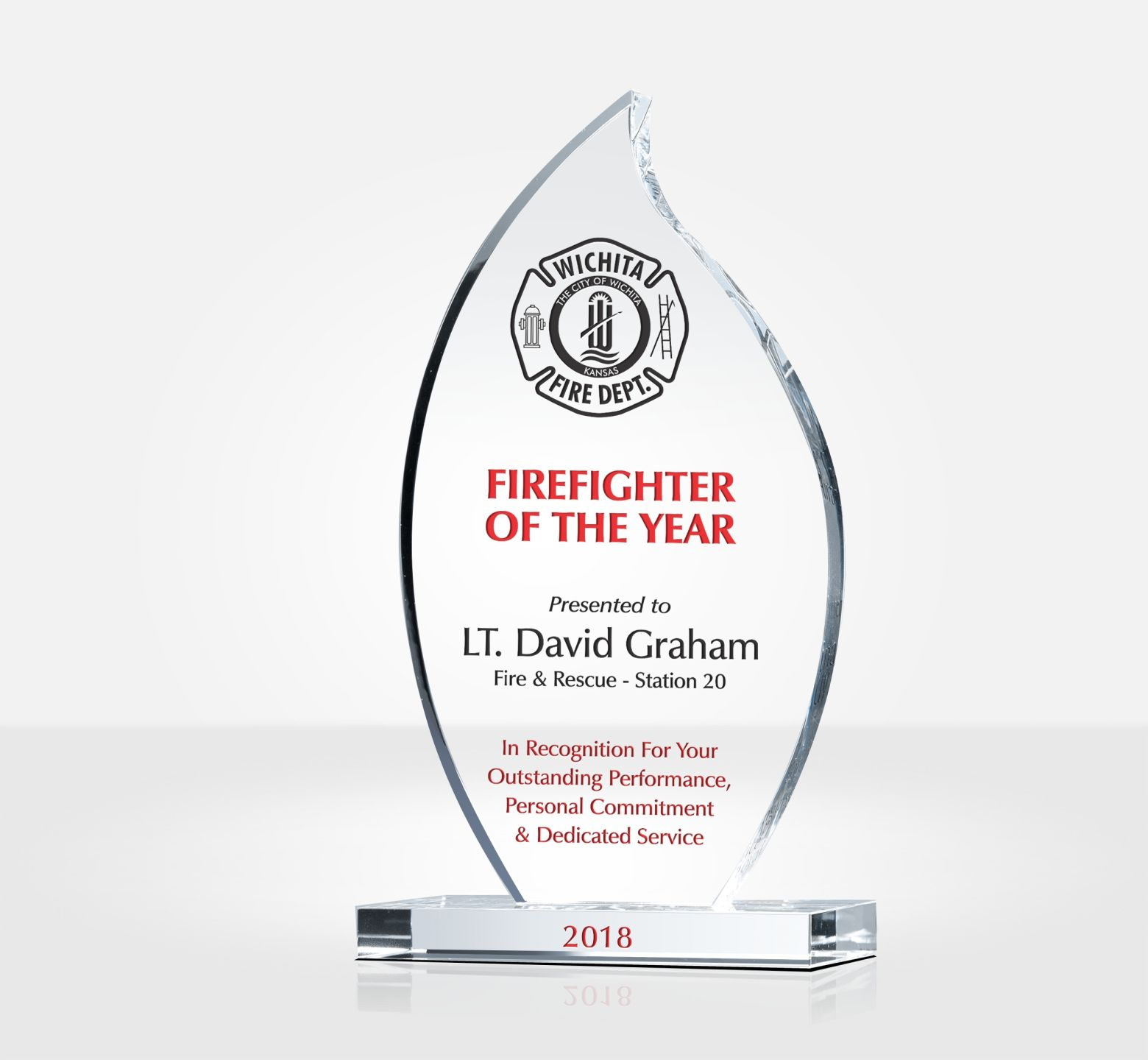 Firefighter Of The Year Award Plaque Diy Awards