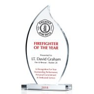Firefighter of the Year Award Plaque