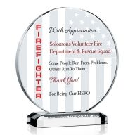 Firefighter Appreciation Day Gift Plaque
