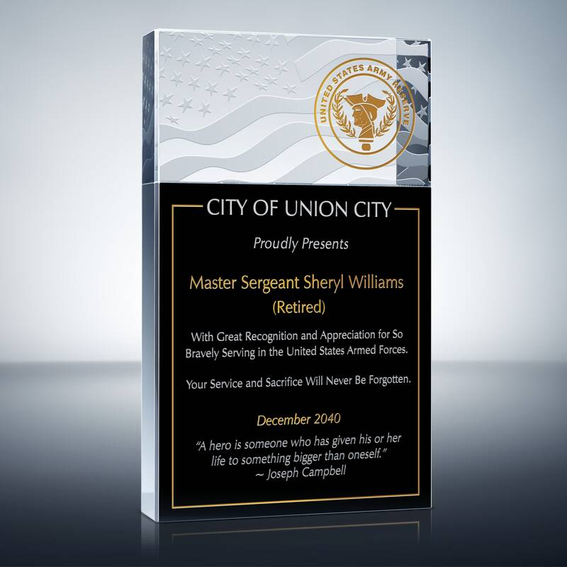 Army Reserves Appreciation Award (#295-5)