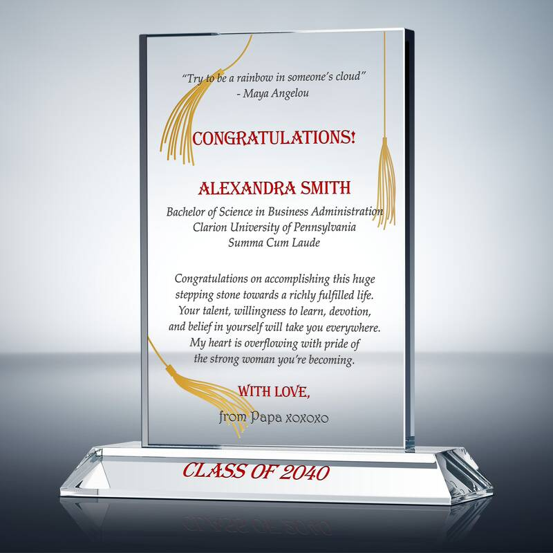 High School Graduation Gift Plaque (#606-3)