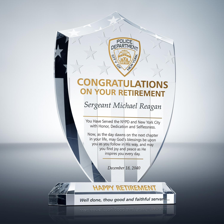 Sample Tribute to Retiring Policeman (#652-1) | Wording ...