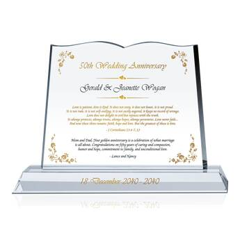 Bible Anniversary Plaque for Parents (#142-3)