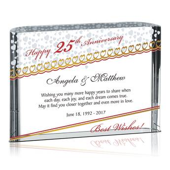 Home > Wedding Anniversary Gifts > 25th Anniversary Gift