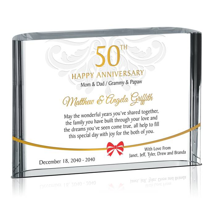 50th golden wedding anniversary gifts diy awards for Gifts for 50 year wedding anniversary