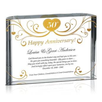 Happy Golden Anniversary Plaque for Parents (#147-2)