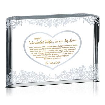 Wedding Gift Wife: Wedding Gift For Wonderful Wife (#150-3)