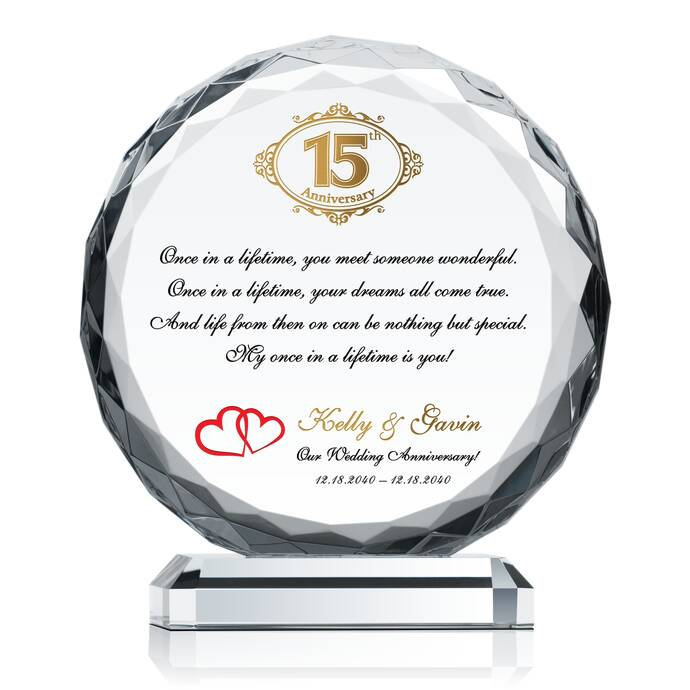 Gifts For 15th Wedding Anniversary: 15th (Crystal) Wedding Anniversary Gifts