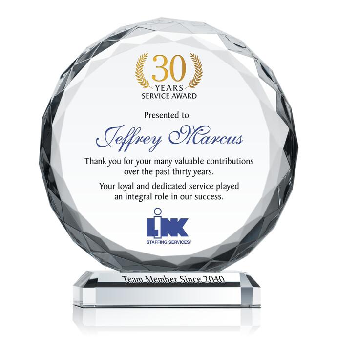 15 years of service award plaque diy awards